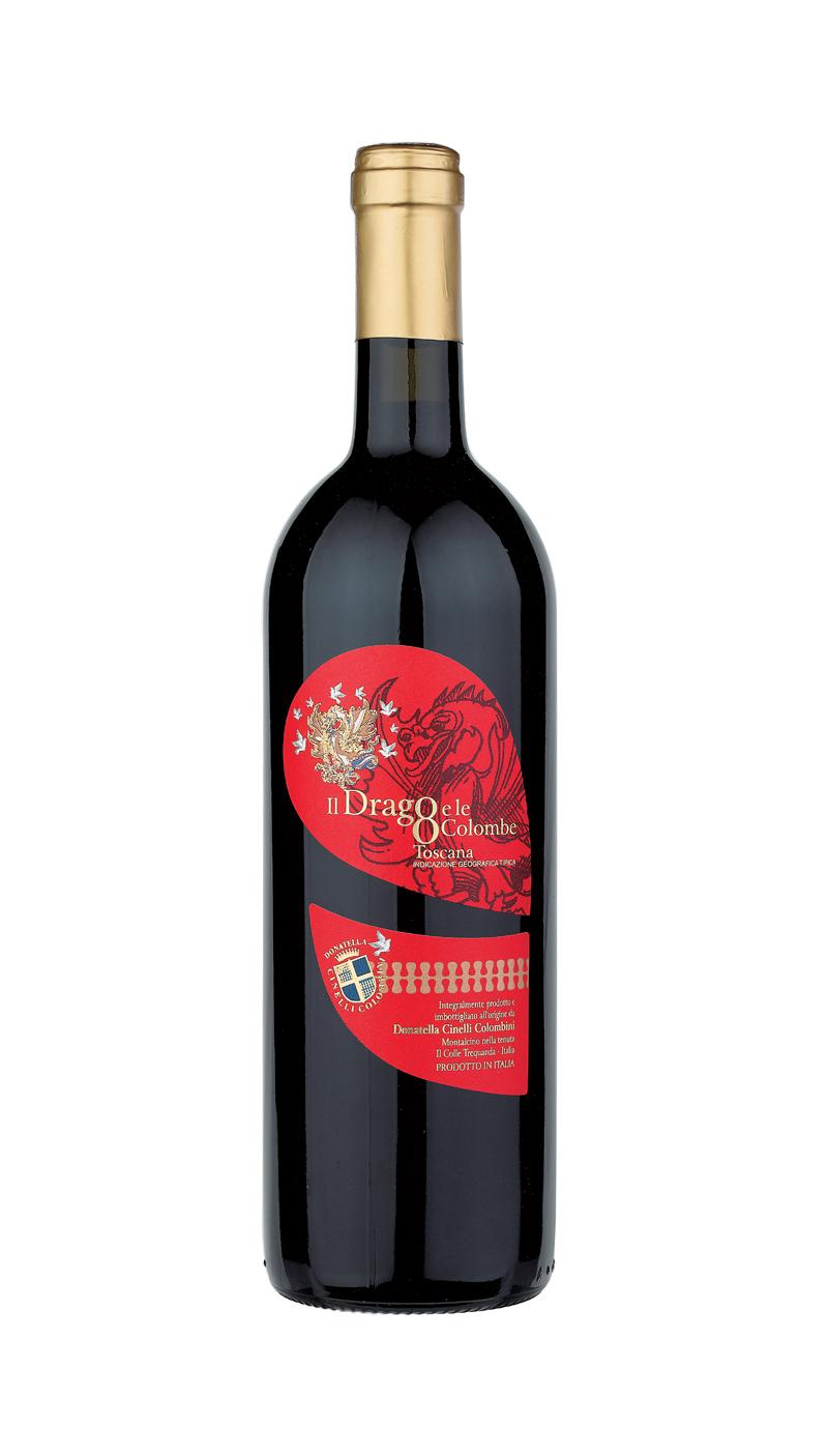 Bottiglia di vino Il Drago e le 8 colombe