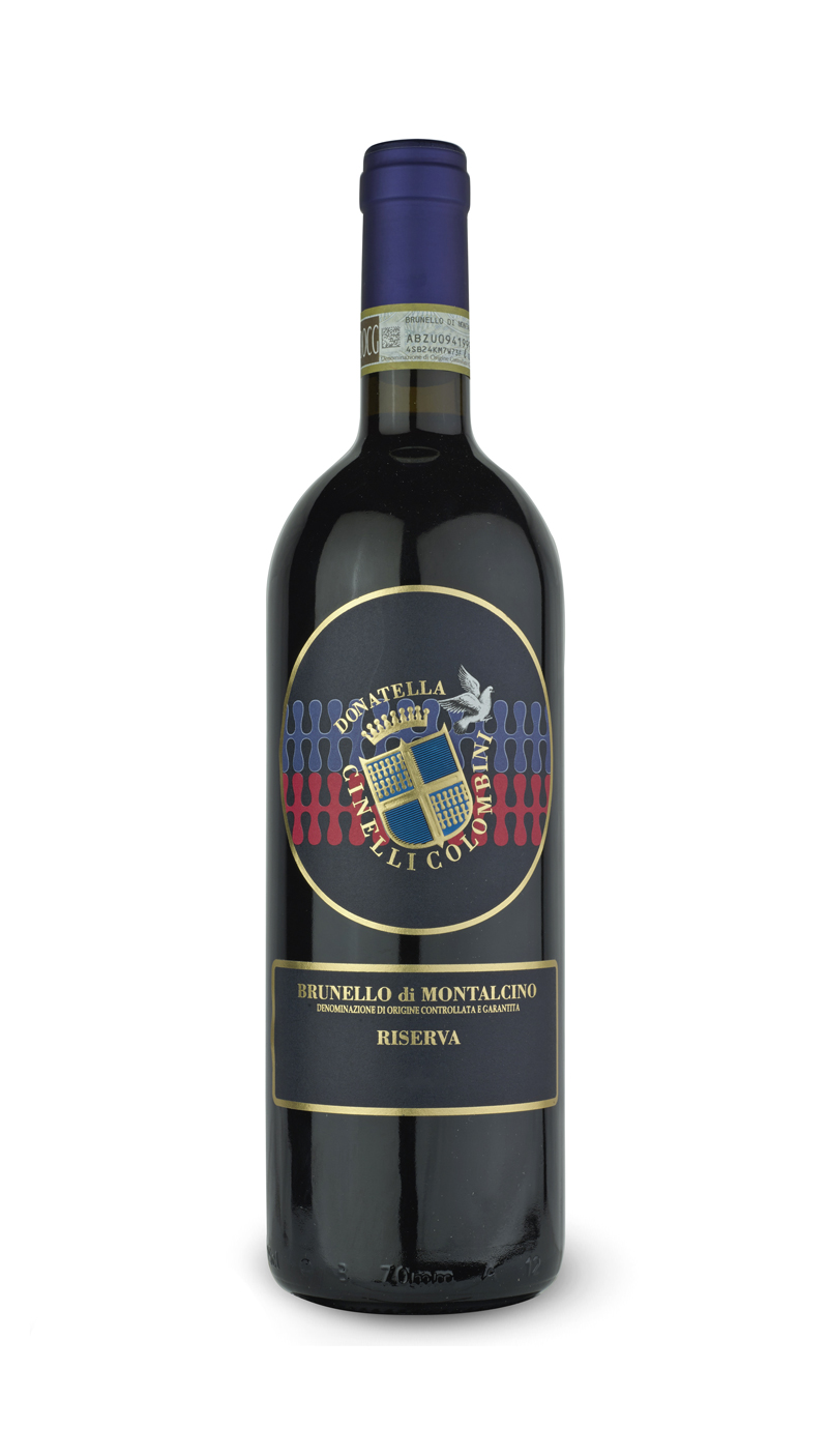 bottle of brunello di montalcino riserva DOCG