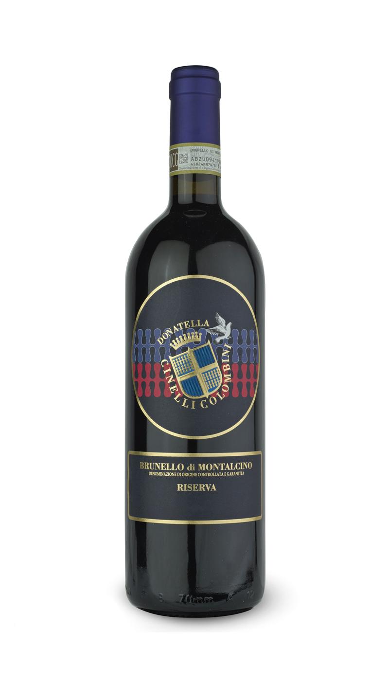 bottiglia di brunello di montalcino riserva DOCG