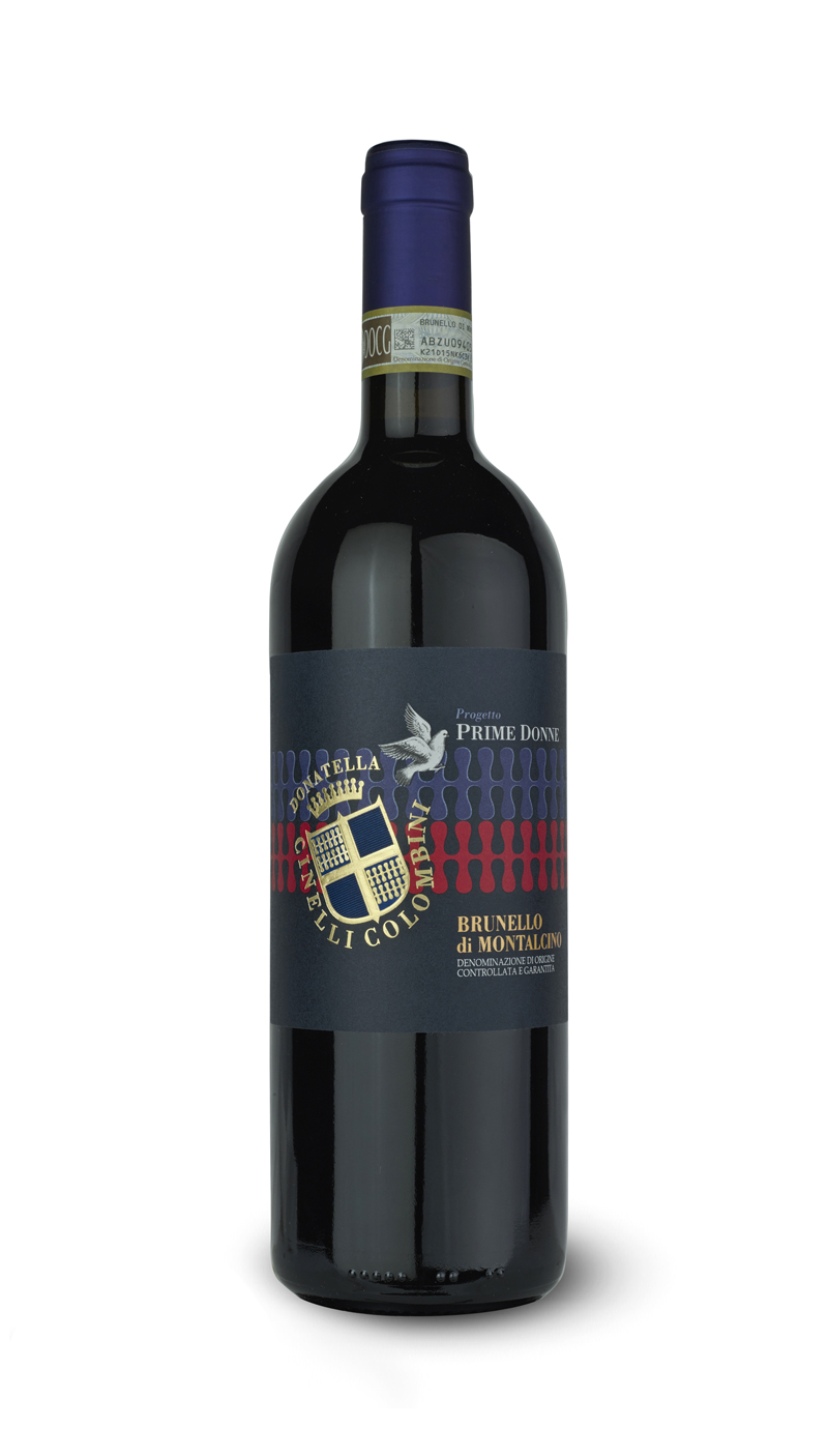 bottle of Brunello di Montalcino Prime Donne