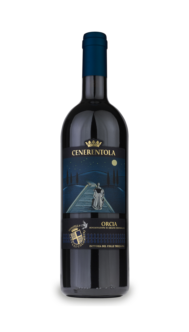 bottle of Cenerentola Orcia DOC wine