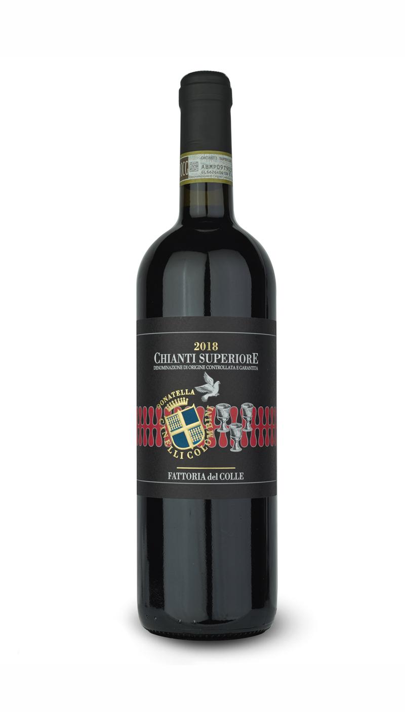 bottle of wine Chianti superiore