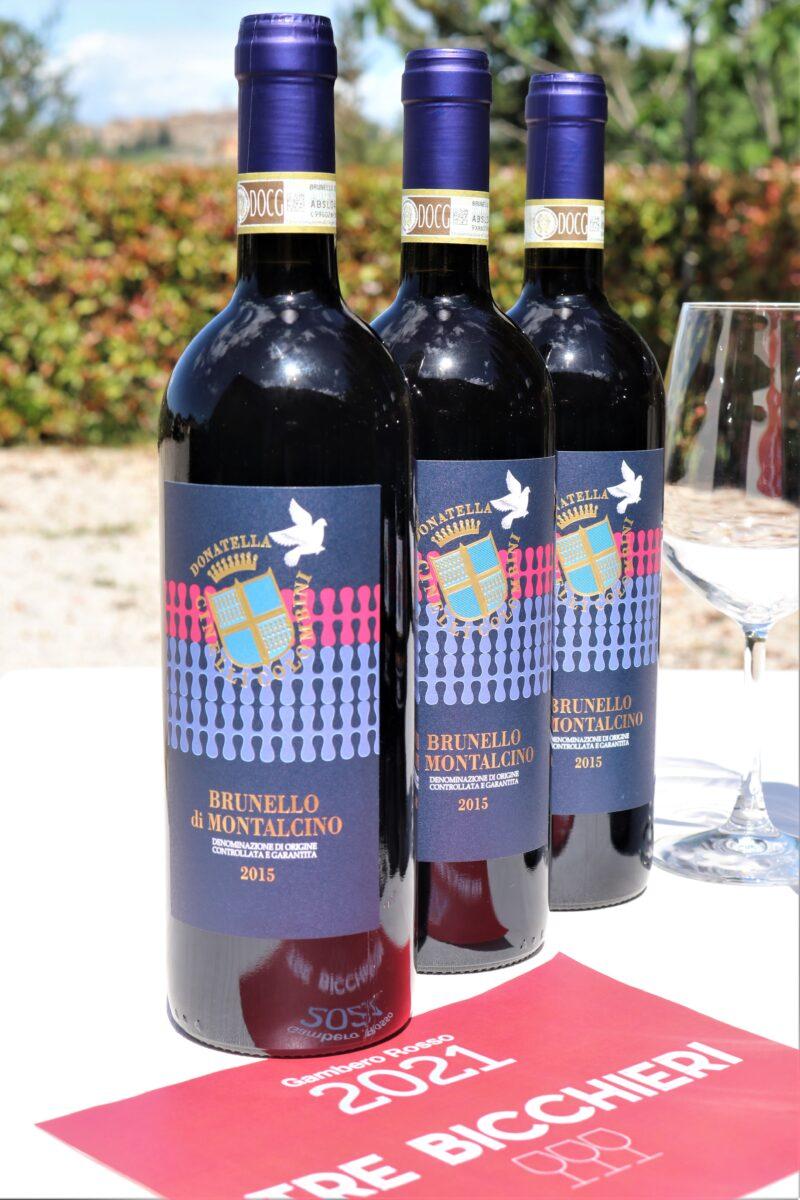3 bottiglie di Brunello di Montalcino