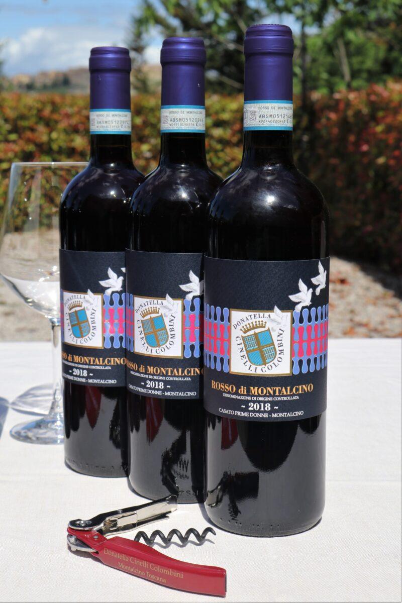 3 bottiglie di Rosso di Montalcino