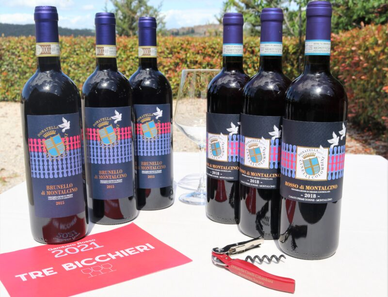 3 bottiglie di Brunello e 3 bottiglie di rosso di Montalcino